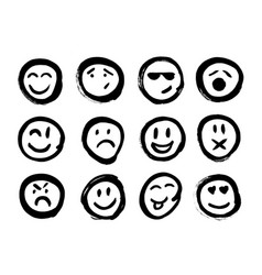 set of emoticons set of emoji isolated vector image vector image
