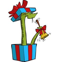 snake gift vector image