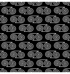 Spiral geometric seamless pattern 2508 vector image vector image