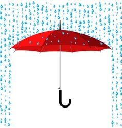 Umbrella under rain vector