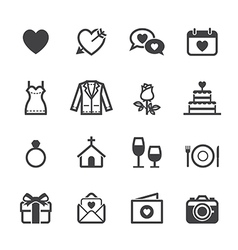 Wedding Icons and Love Icons vector image vector image