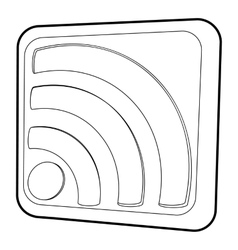 Wireless network sign icon isometric 3d style vector image vector image