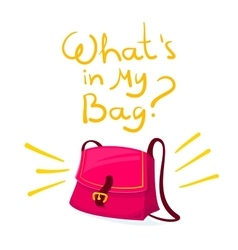 What is in my bag vector image