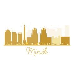 Minsk City skyline golden silhouette vector image