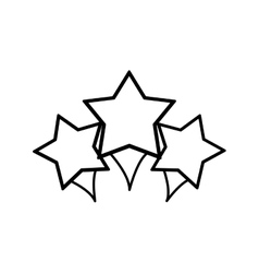 Stars decoration geometric sign vector