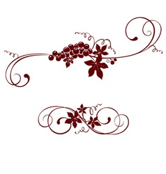 Vintage design element - grape vector image