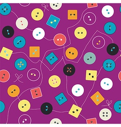 Buttons seamless pattern for sewing vector