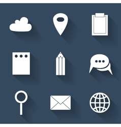 Business flat icons vector