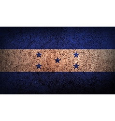Flag of honduras with old texture vector