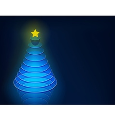 3d christmas tree vector
