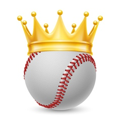 Gold crown on baseball vector