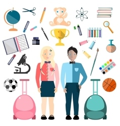 School Children and Education Icon vector image