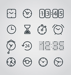 Different slyle of clock collection vector