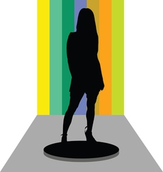 Girl on stage vector