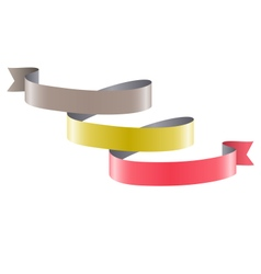 Infographic element curved ribbon isolated on vector