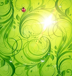 Bright green summer design vector