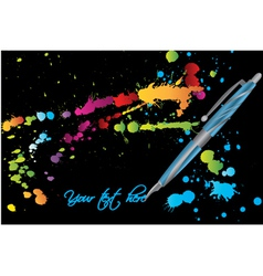 Watercolor grunge background vector