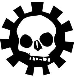 Gear Skull vector image