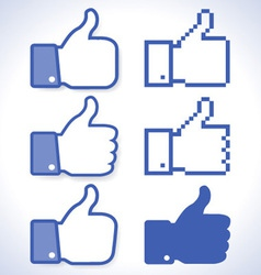 Thumb up icons vector