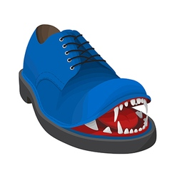 Angry blue shoe vector