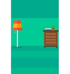 Background of living room vector image vector image