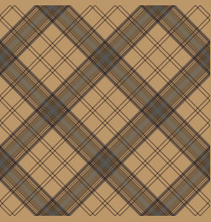 brown plaid check tartan seamless pattern vector image vector image