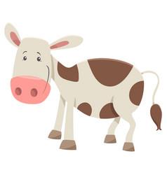 calf farm animal character vector image vector image