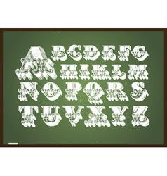 Chalkboard design elements vector