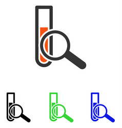 Chemical test flat icon vector