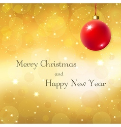 christmas new year background vector image vector image
