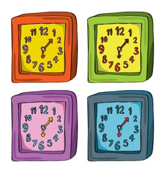 Clocks Color Set vector image vector image
