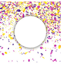 Confetti falling bright explosion isolated vector