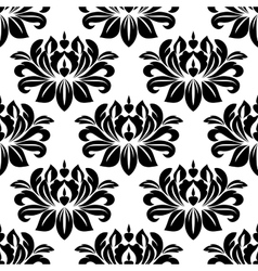 Damask seamless pattern with bold black motifs vector image