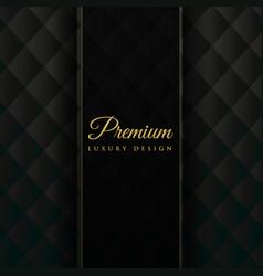 Dark upholstery premium invitation background vector