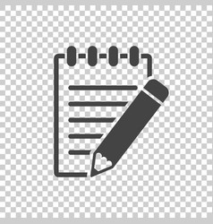 Document with pencil pictogram icon simple flat vector
