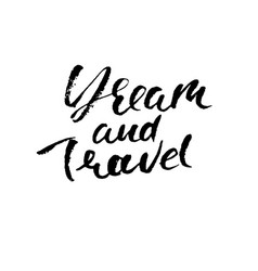 Dream and travel hand drawn modern dry brush vector