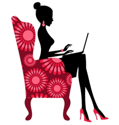 fashion blogger vector image