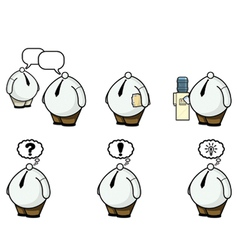 fat guys with little heads vector image vector image