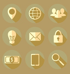 Flat bussiness icons vector image vector image