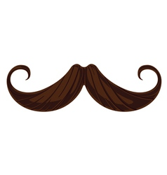 Handlebar mustache vector