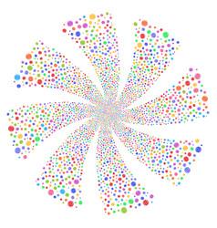 Internet fireworks swirl flower vector