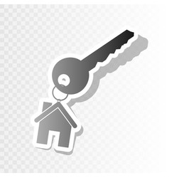 Key with keychain as an house sign new vector