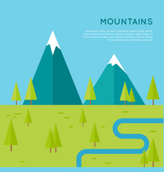 mountains concept in flat style design vector image vector image