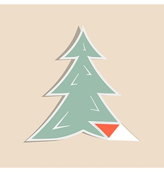 Paper Fir - Pine Tree vector image vector image
