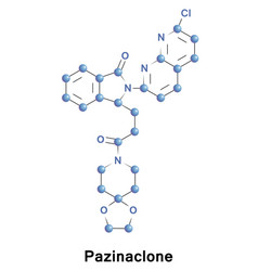 pazinaclone sedative and anxiolytic vector image