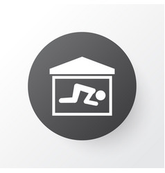 praying icon symbol premium quality isolated room vector image