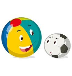 Round balls with happy face vector image