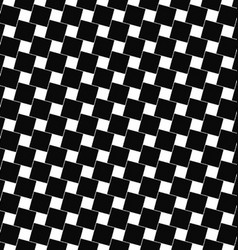 Seamless black and white angular square pattern vector