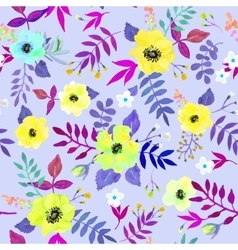 Seamless floral background isolated watercolor vector