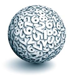 Sphere of numbers vector